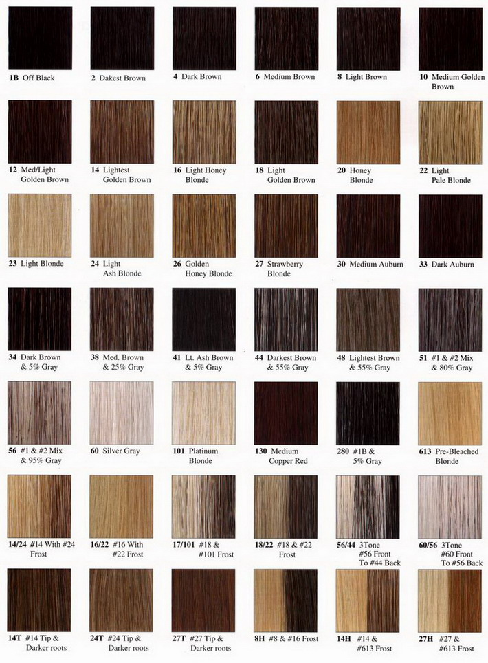Weave Hair Color Chart Photosgratisylegal